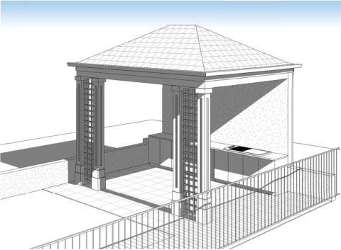 Pool hut Plan Drawing 1